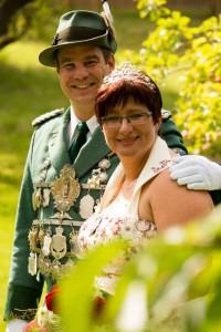 Rumbeck Königspaar Claudia und Stefan